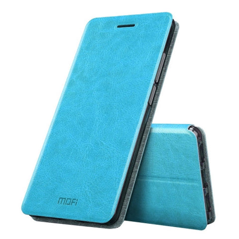 MOFI Huawei Honor 6X Crazy Horse Texture Horizontal Flip Leather Case with Holder (Blue)