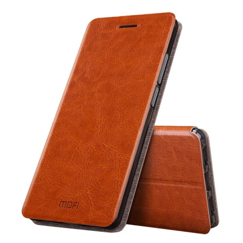 MOFI Huawei Honor 6X Crazy Horse Texture Horizontal Flip Leather Case with Holder (Brown)