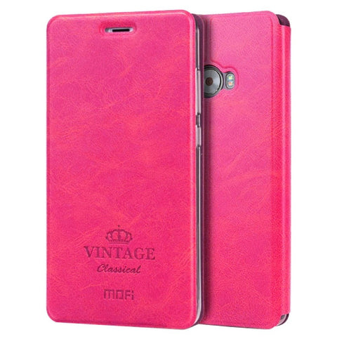 MOFI VINTAGE Xiaomi Note 2 Crazy Horse Texture Horizontal Flip Leather Case with Card Slot & Holder (Magenta)