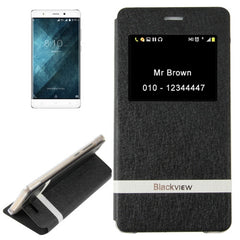 For Blackview A8 (MPH1001) Horizontal Flip Leather Case with Call Display ID & Holder(Black)