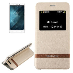 For Blackview A8 (MPH1001) Horizontal Flip Leather Case with Call Display ID & Holder(Gold)