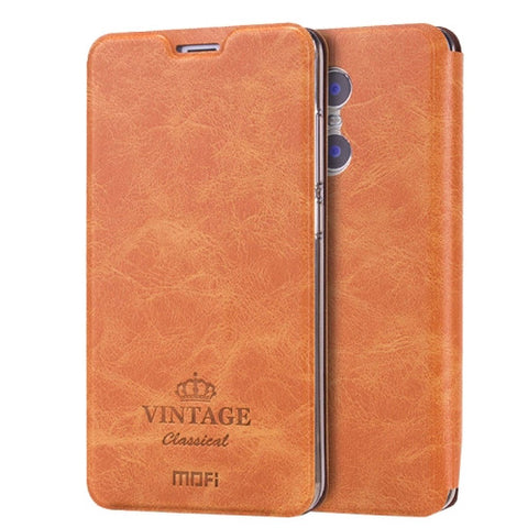 MOFI VINTAGE Xiaomi Redmi Pro Crazy Horse Texture Horizontal Flip Leather Case with Card Slot & Holder(Brown)