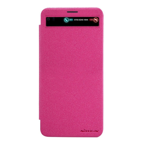NILLKIN SPARKLE Series For LG V20 Frosted Texture Horizontal Flip Leather Case with Call Display ID & Sleep / Wake-up Function (Magenta)