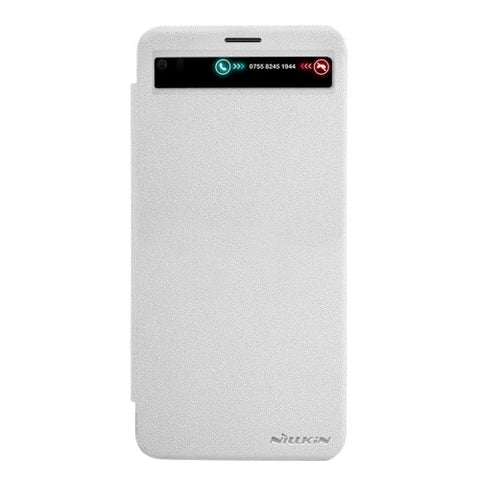 NILLKIN SPARKLE Series For LG V20 Frosted Texture Horizontal Flip Leather Case with Call Display ID & Sleep / Wake-up Function (White)