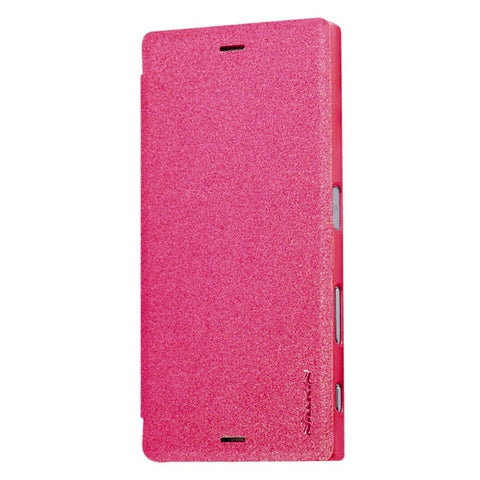 NILLKIN SPARKLE Series For Sony Xperia XZ Frosted Texture Horizontal Flip Leather Case with Sleep / Wake-up Function(Magenta)