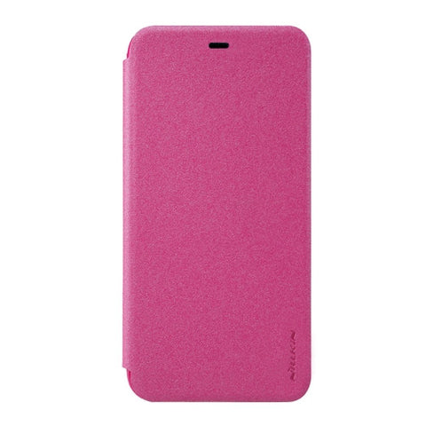 NILLKIN SPARKLE Series Xiaomi 5s Plus Frosted Texture Horizontal Flip Leather Case with Sleep / Wake-up Function (Magenta)