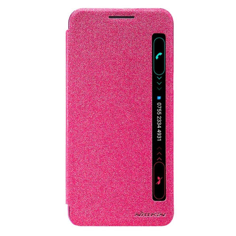 NILLKIN SPARKLE Series For LG X Power / K220Y Frosted Texture Horizontal Flip Leather Case with Call Display ID & Sleep / Wake-up Function(Magenta)