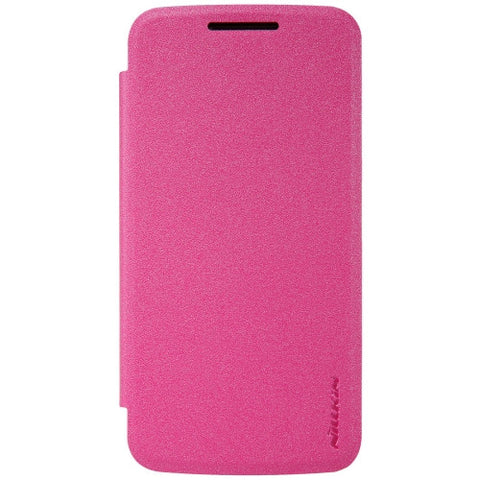 NILLKIN SPARKLE Series For Motorola Moto G4 Play Frosted Texture Horizontal Flip Leather Case (Magenta)