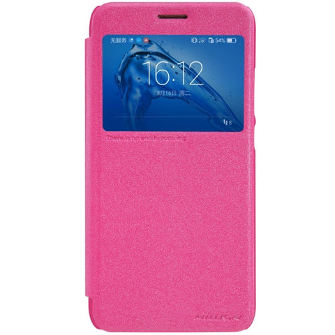 NILLKIN SPARKLE Series Huawei Maimang 5 Frosted Texture Horizontal Flip Leather Case with Call Display ID & Sleep / Wake-up Function (Magenta)