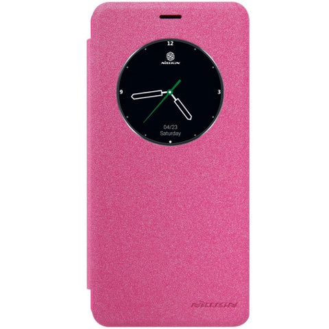NILLKIN SPARKLE Series Meizu MX6 Frosted Texture Horizontal Flip Leather Case with Call Display ID & Sleep / Wake-up Function(Magenta)