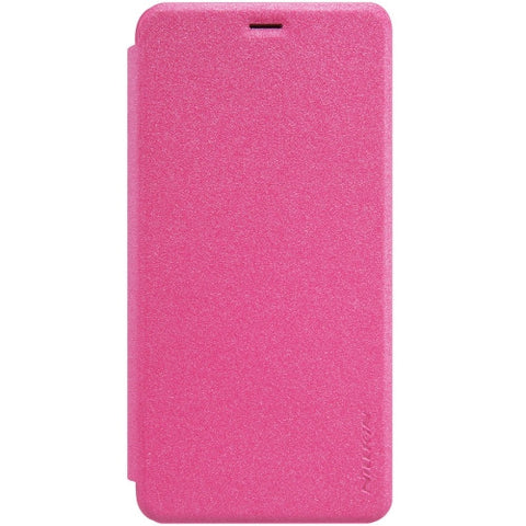 NILLKIN SPARKLE Series Meizu M3S Frosted Texture Horizontal Flip Leather Case with Call Display ID & Sleep / Wake-up Function (Magenta)