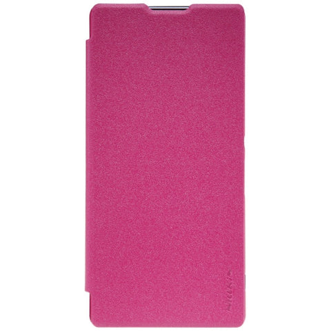 NILLKIN SPARKLE Series For Sony Xperia XA Ultra Frosted Texture Horizontal Flip Leather Case with Sleep / Wake-up Function(Magenta)
