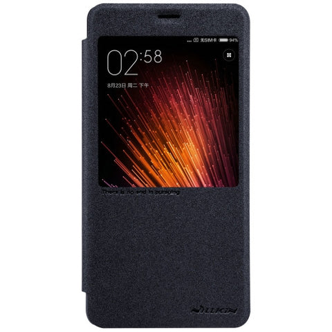 NILLKIN SPARKLE Series Xiaomi Redmi Pro Frosted Texture Horizontal Flip Leather Case with Call Display ID & Sleep / Wake-up Function (Black)