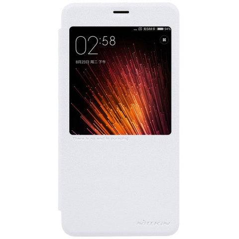 NILLKIN SPARKLE Series Xiaomi Redmi Pro Frosted Texture Horizontal Flip Leather Case with Call Display ID & Sleep / Wake-up Function (White)