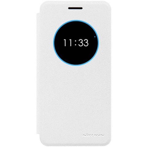 NILLKIN SPARKLE Series For Lenovo ZUK Z2 Frosted Texture Horizontal Flip Leather Case with Call Display ID & Sleep / Wake-up Function(White)