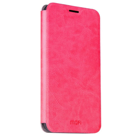 MOFI Huawei P9 Plus Crazy Horse Texture Horizontal Flip Leather Case with Holder(Magenta)