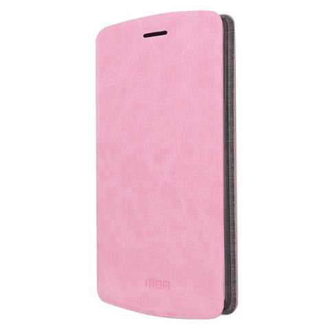 MOFI for LG V10 Crazy Horse Texture Horizontal Flip Leather Case with Holder(Pink)
