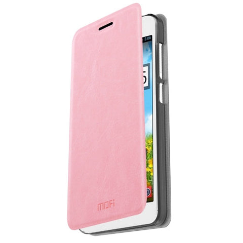 MOFI Xiaomi Redmi Note 2 Crazy Horse Texture Horizontal Flip Leather Case with Holder(Pink)