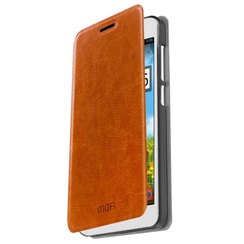 MOFI Xiaomi Redmi Note 2 Crazy Horse Texture Horizontal Flip Leather Case with Holder(Brown)