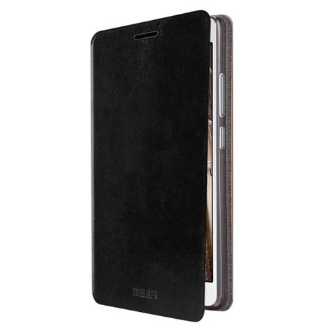 MOFI for Lenovo VIBE P1m Crazy Horse Texture Horizontal Flip Leather Case with Holder(Black)