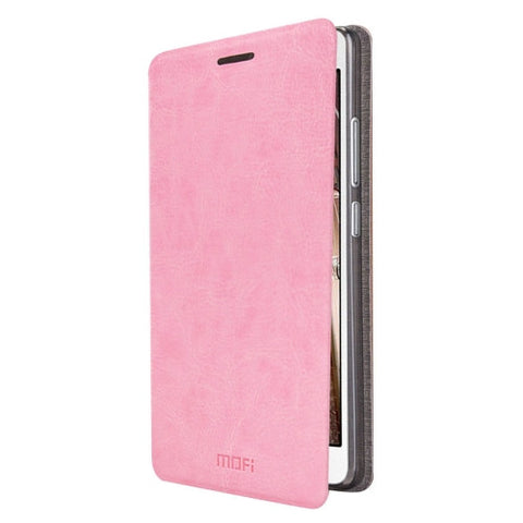 MOFI for Lenovo VIBE P1m Crazy Horse Texture Horizontal Flip Leather Case with Holder(Pink)