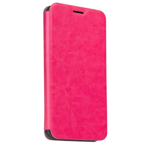 MOFI Huawei P9 Crazy Horse Texture Horizontal Flip Leather Case with Holder(Magenta)