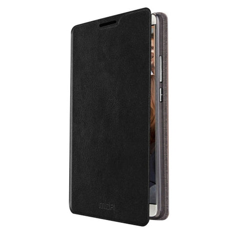 MOFI Huawei Mate 8 Crazy Horse Texture Horizontal Flip Leather Case with Holder(Black)