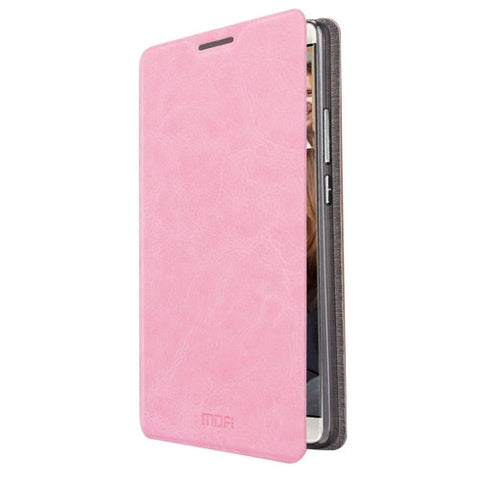 MOFI Huawei Mate 8 Crazy Horse Texture Horizontal Flip Leather Case with Holder(Pink)