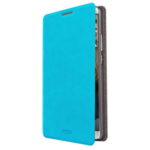 MOFI Huawei Mate 8 Crazy Horse Texture Horizontal Flip Leather Case with Holder(Blue)