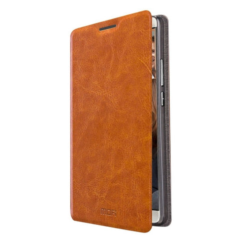 MOFI Huawei Mate 8 Crazy Horse Texture Horizontal Flip Leather Case with Holder(Brown)