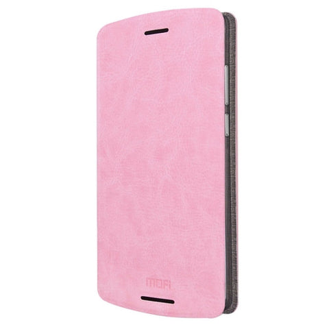 MOFI for Lenovo Lemon X3 Lite Crazy Horse Texture Horizontal Flip Leather Case with Holder(Pink)