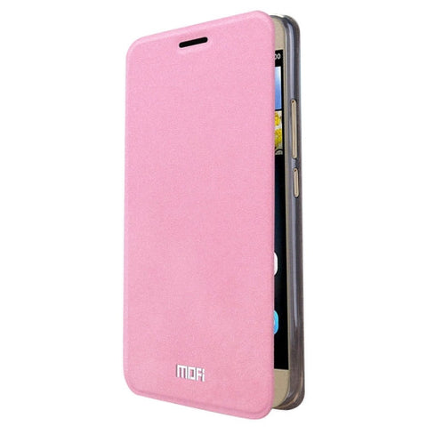 MOFI Huawei Enjoy 5s Crazy Horse Texture Horizontal Flip Leather Case with Holder(Pink)