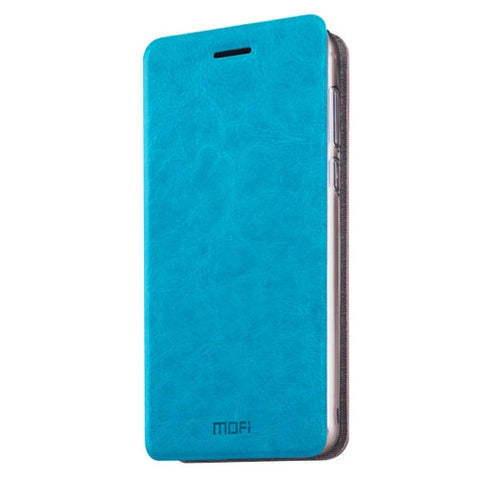 MOFI Huawei Honor 8 Crazy Horse Texture Horizontal Flip Leather Case with Holder(Blue)