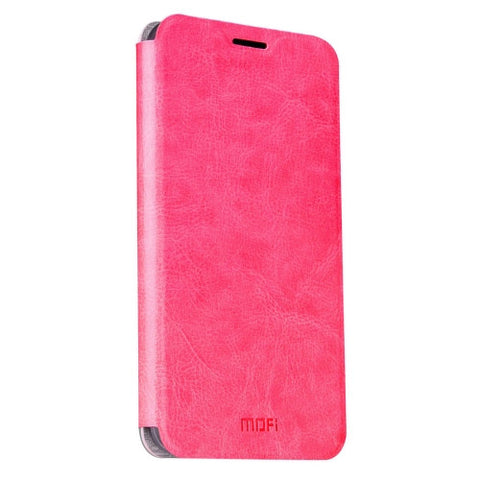 MOFI Huawei Honor 5A Crazy Horse Texture Horizontal Flip Leather Case with Holder(Magenta)