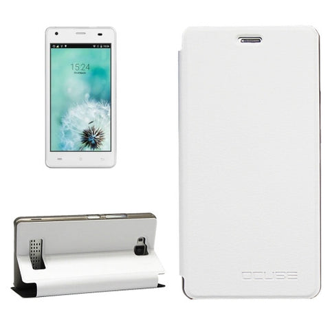 OCUBE CUBOT Echo (MPH1440) Litchi Texture Horizontal Flip Leather Case with Holder (White)