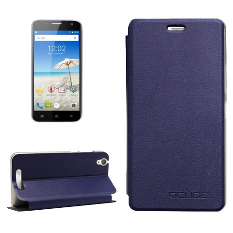 OCUBE CUBOT Manito (MPH1441) Litchi Texture Horizontal Flip Leather Case with Holder (Dark Blue)
