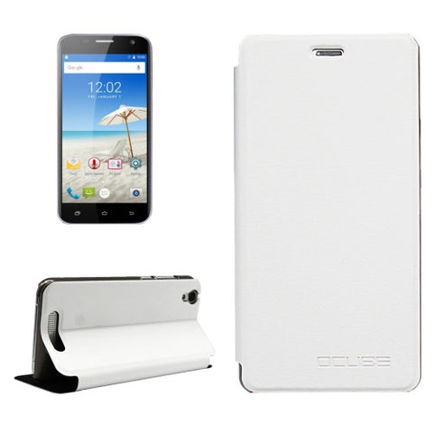 OCUBE CUBOT Manito (MPH1441) Litchi Texture Horizontal Flip Leather Case with Holder (White)
