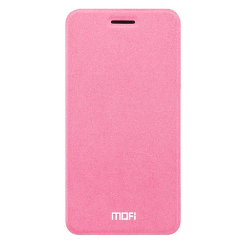 MOFI OPPO R9s Crazy Horse Texture Horizontal Flip Leather Case with Holder(Pink)