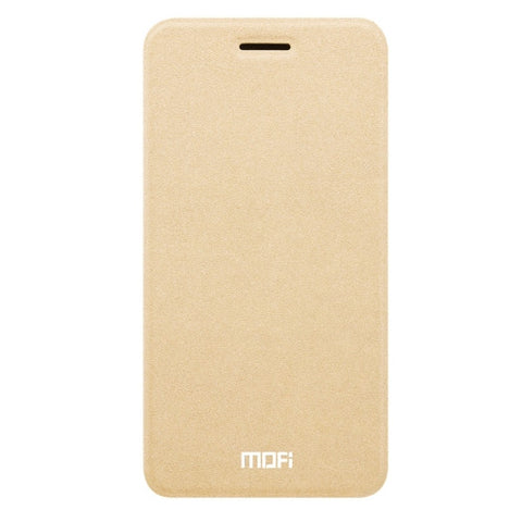 MOFI OPPO R9s Crazy Horse Texture Horizontal Flip Leather Case with Holder(Gold)