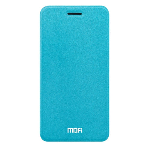 MOFI OPPO R9s Plus Crazy Horse Texture Horizontal Flip Leather Case with Holder(Blue)
