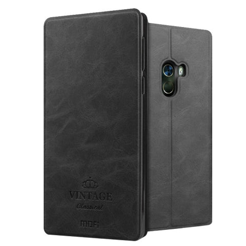 MOFI VINTAGE Xiaomi Mi Mix Crazy Horse Texture Horizontal Flip Leather Case with Card Slot & Holder (Black)