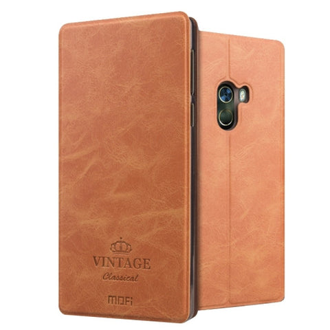 MOFI VINTAGE Xiaomi Mi Mix Crazy Horse Texture Horizontal Flip Leather Case with Card Slot & Holder (Brown)