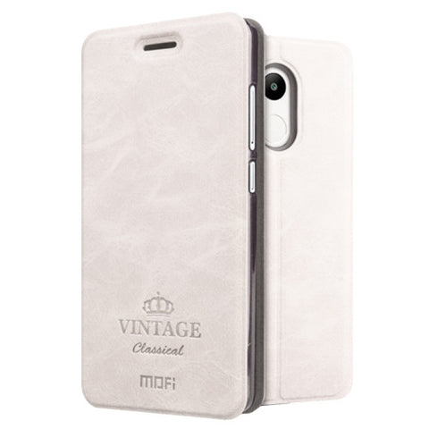 MOFI VINTAGE Xiaomi Redmi 4 Pro / Prime Crazy Horse Texture Horizontal Flip Leather Case with Card Slot & Holder(White)
