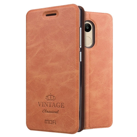 MOFI VINTAGE Xiaomi Redmi 4 Pro / Prime Crazy Horse Texture Horizontal Flip Leather Case with Card Slot & Holder(Brown)