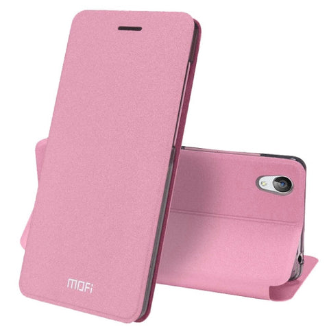 MOFI vivo Y51 Crazy Horse Texture Horizontal Flip Leather Case with Holder (Pink)
