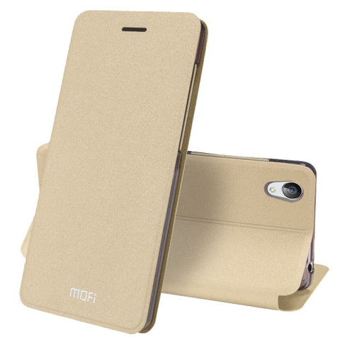 MOFI vivo Y51 Crazy Horse Texture Horizontal Flip Leather Case with Holder (Gold)