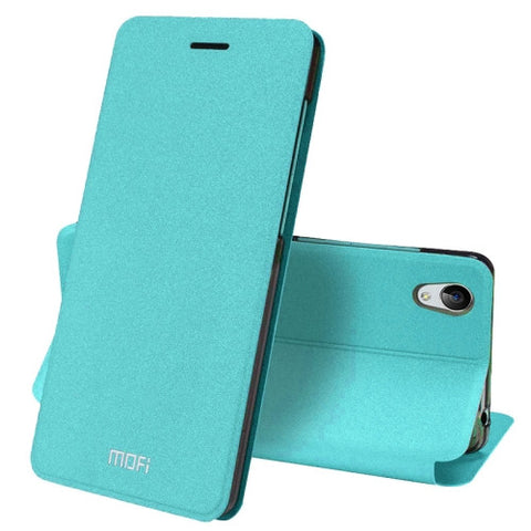 MOFI vivo Y51 Crazy Horse Texture Horizontal Flip Leather Case with Holder (Blue)