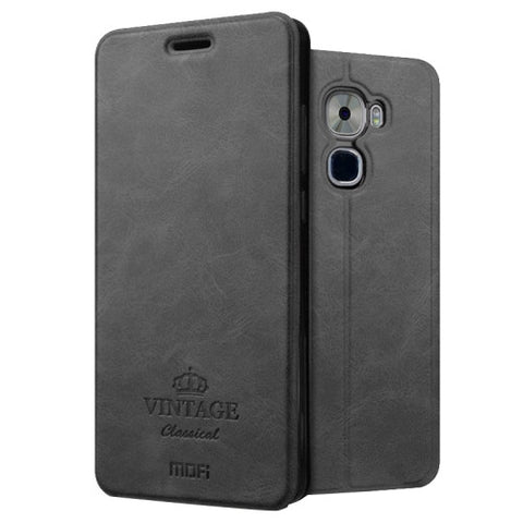 MOFI VINTAGE Letv Le Pro 3 Crazy Horse Texture Horizontal Flip Leather Case with Card Slot & Holder (Black)