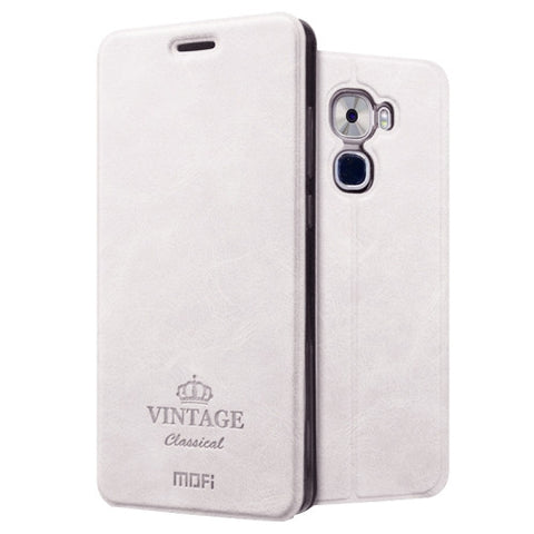 MOFI VINTAGE Letv Le Pro 3 Crazy Horse Texture Horizontal Flip Leather Case with Card Slot & Holder (White)