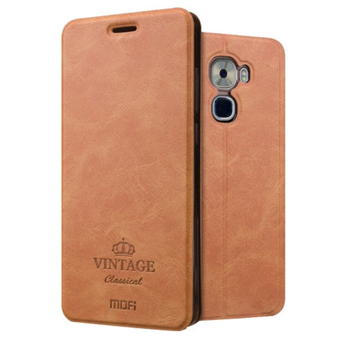 MOFI VINTAGE Letv Le Pro 3 Crazy Horse Texture Horizontal Flip Leather Case with Card Slot & Holder (Brown)